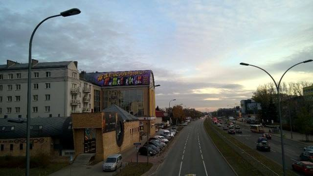 Warsaw, graffiti on the roof, 20 m above the ground