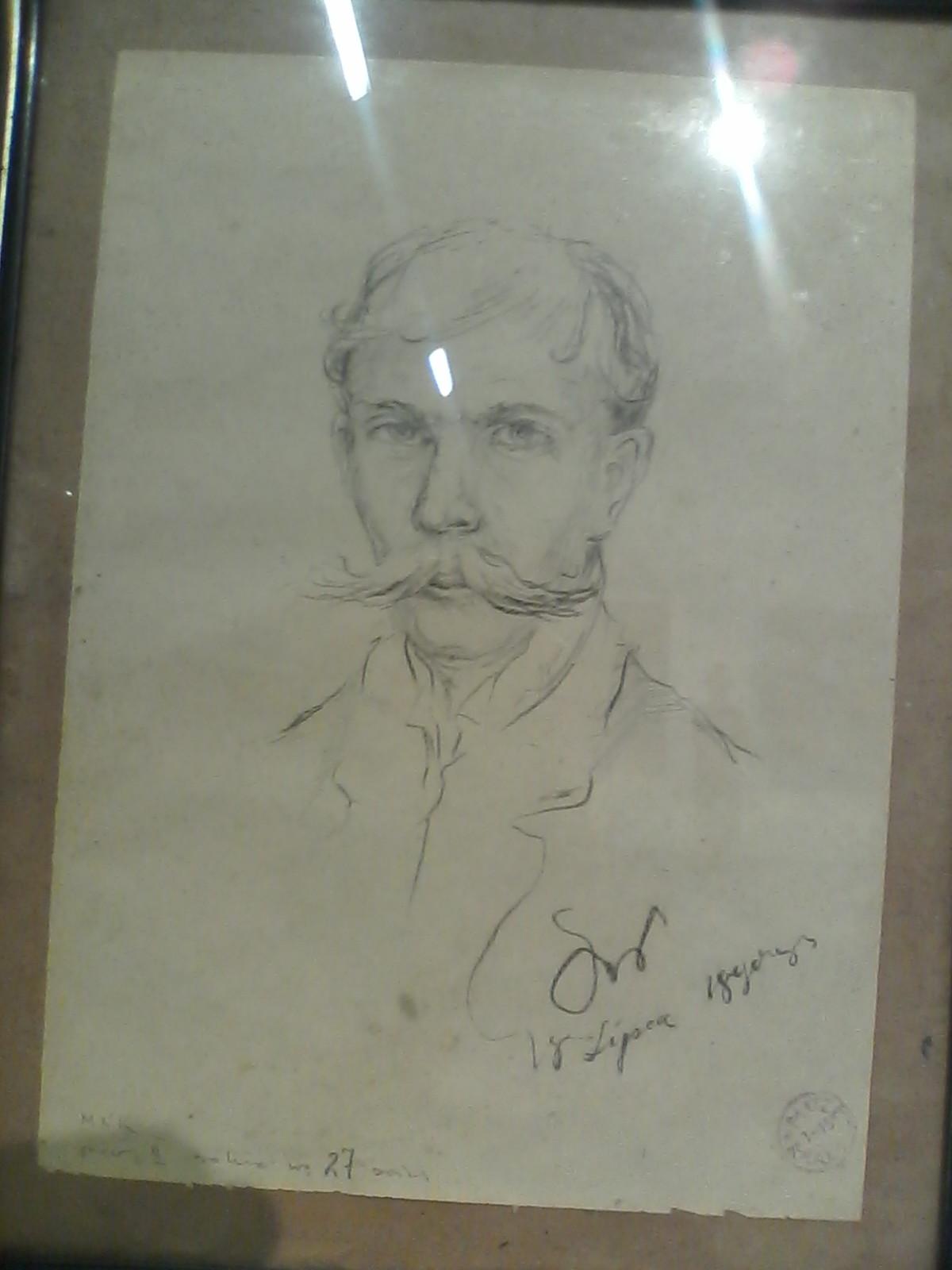 Robert Kuśmirowski, falsyfikat rysunku Stanisława Wyspiańskiego