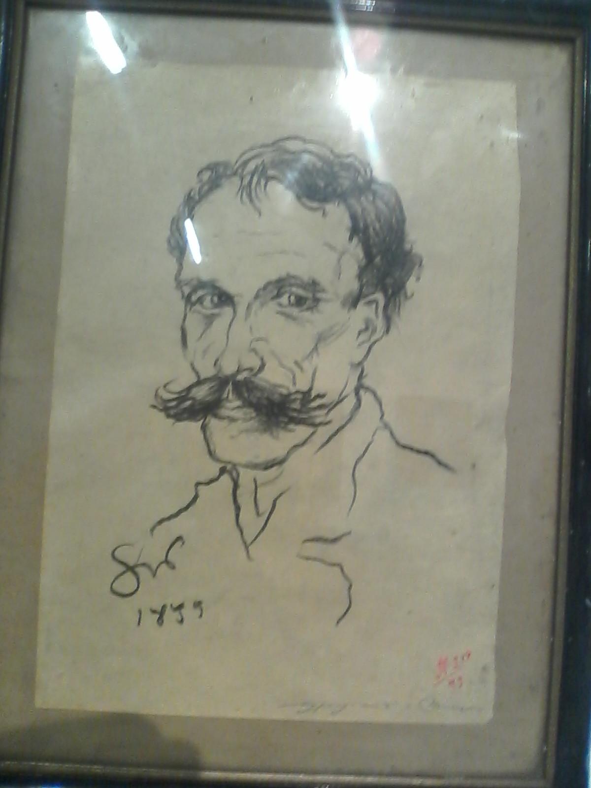 Robert Kuśmirowski, falsyfikat rysunku Stanisława Wyspiańskiego. Portret Franciszka Maluśka