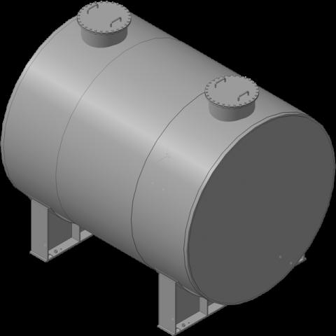 Horizontal cylindrical tank, 250 m3
